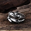Vienna Jewelry Artistic Stainless Steel Connected Ring - Thumbnail 1