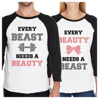 Every Beast Beauty Matching Couples Baseball Shirts For Anniversary