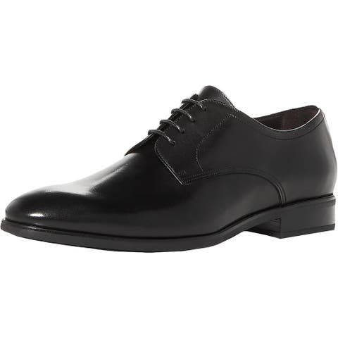 To Boot New York Mens Dwight Derby Shoes Leather Lace Up - Black Leather
