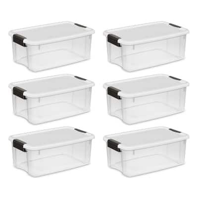 Sterilite Clear 18-quart Ultra-latch Boxes (Case of 6) - Case of 6