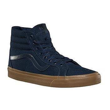 Vans SK8-HI REISSUE mens skateboarding-Shoes VN-A2XSBLWC_9.5 - Blue/Light Gum