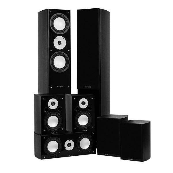 Fluance Reference Series Surround Sound Home Theater 7.0 Channel System - Black Ash (XL70BR)
