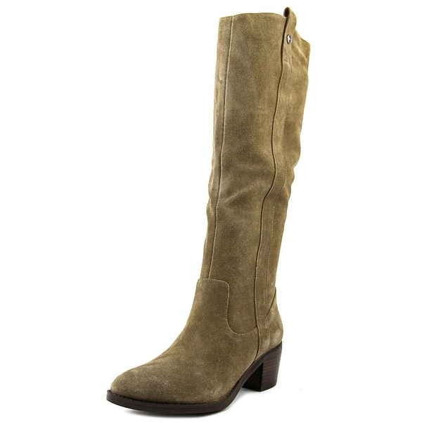 Marc Fisher Kimmee Women Round Toe Suede Brown Over the Knee Boot