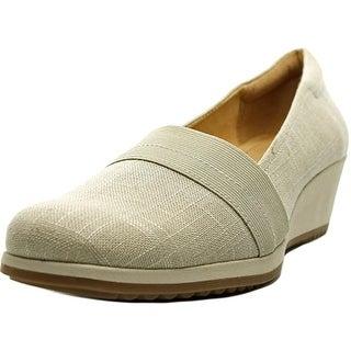 Naturalizer Bette N/S Open Toe Canvas Wedge Heel