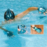 The Sea Creature Swim Set - Goggles and Swim Fins for Hands and Feet - Blue