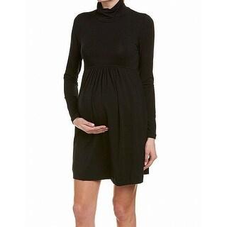 Tart Black Womens Size Medium M Maternity Turtleneck Sweater Dress