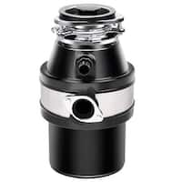 Costway 1.0HP 2600RPM Garbage Disposal Continuous Feed Home Kitchen Food Waste Disposer - Black