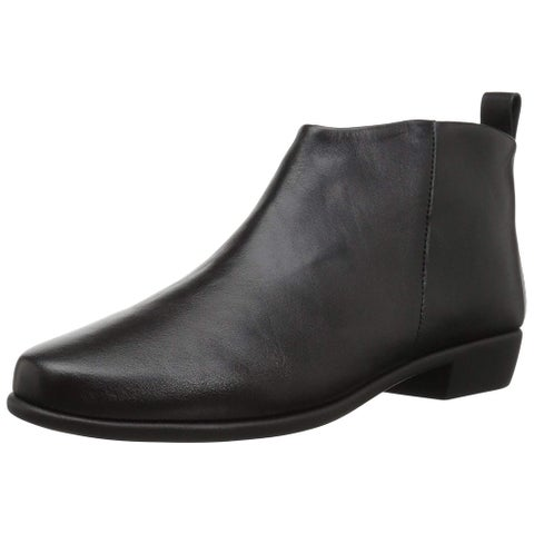 Aerosoles Womens Step it Up Leather Almond Toe Ankle Fashion Boots