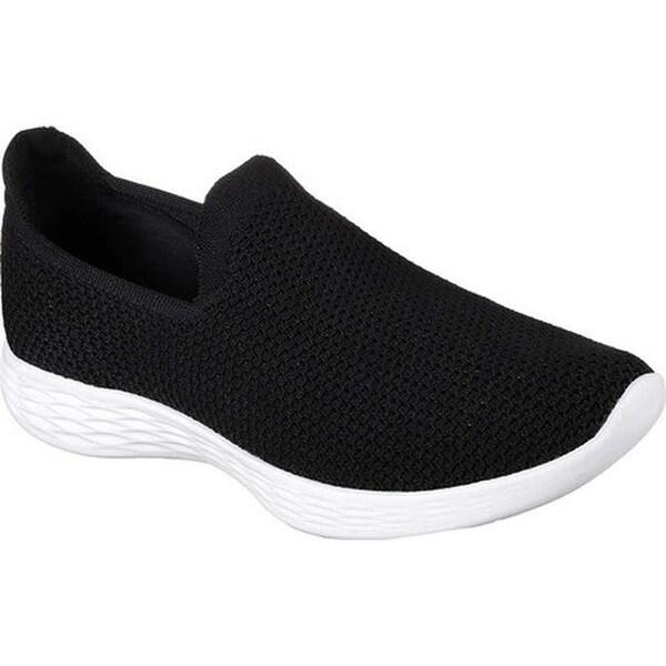 Shop Skechers Damens's YOU Zen Zen YOU Slip On Sneaker schwarz Weiß Free ... e7f5b1