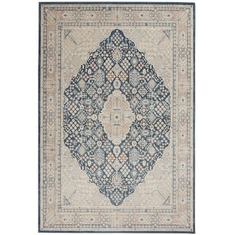 Kathy Ireland Malta Persian Bordered Area Rug