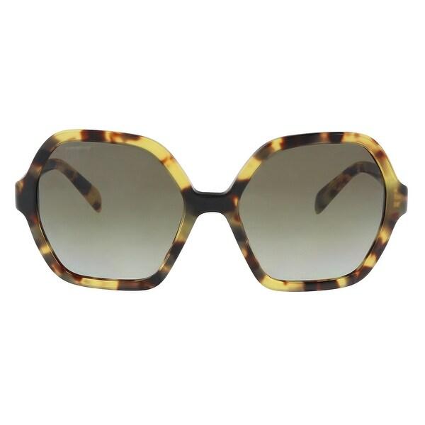 fd8b3b0715a8 Shop Prada PR06SS 7S04K1 Medium Havana Oversize Sunglasses - 56-18 ...