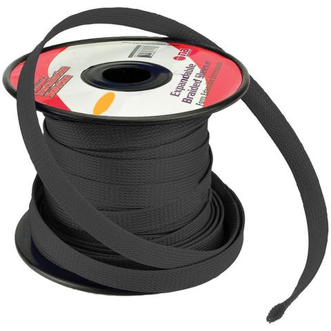 Nippon is-br19m-100bk installation solution expandable braided sleeve black 3/4