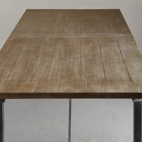 Madison Park Kagen Grey Dining Table with Metal Legs