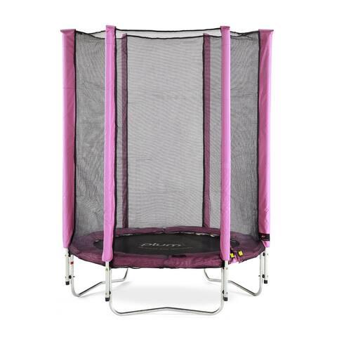 Plum® 4.5ft Junior Trampoline & Enclosure Pink
