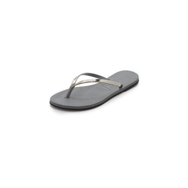 Havaianas Women's You Metallic Flip Flops, Steel Grey, 35/36 Eu (6.5 B(M) Us Women) - 35-36 m eu / 6.5 b(m) us