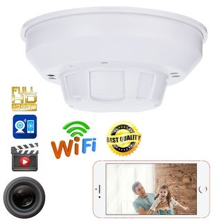 AGPtek Mini SPY DVR Hidden IP Camera Smoke Detector Motion Detection Nanny Cam 1080P HD