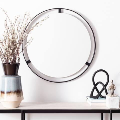 """Safavieh Radlin 22-inch Silver Round Mirror - 22"""" W x 1"""" L x 22"""" H"""