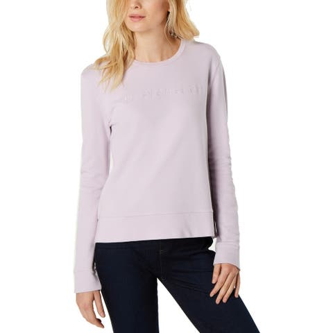 French Connection Womens Sweatshirt French Terry Crew Neck - Lavender - XS