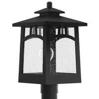 "Park Harbor PHEL1103 Textured Black Carytown 16"" Tall 1-Light Outdoor Post Light - n/a"