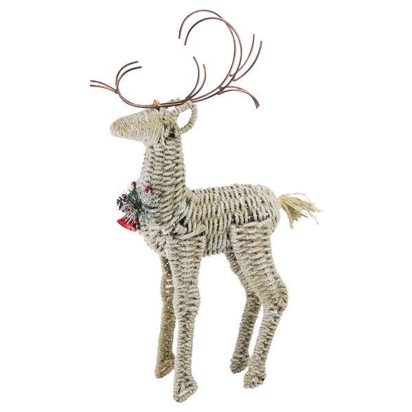 "26"" Reindeer Twine and Metal Christmas Decoration"