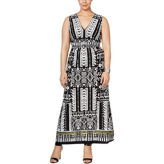 NY Collection Womens Plus Maxi Dress Maxi Tie-back