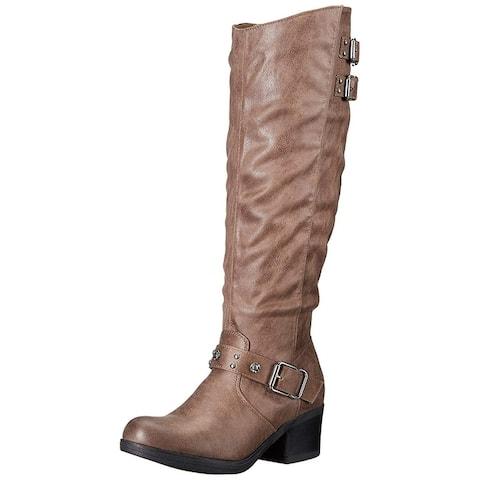 Carlos by Carlos Santana Womens Cara Closed Toe Knee High Fashion Boots