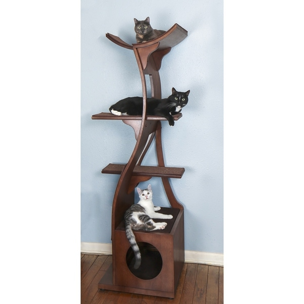 The Refined Feline's Lotus Color Cat Tower. Opens flyout.