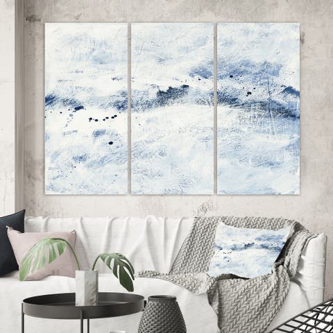 Porch & Den Blue Wipe Out' 3-panel Canvas Art