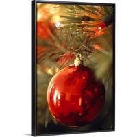edde6d83b16c3 Floating Frame Premium Canvas with Black Frame entitled Christmas bulb  ornament - Multi-color