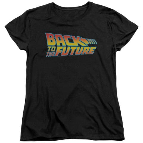 Back To The Future Logo Womens Short Sleeve Shirt
