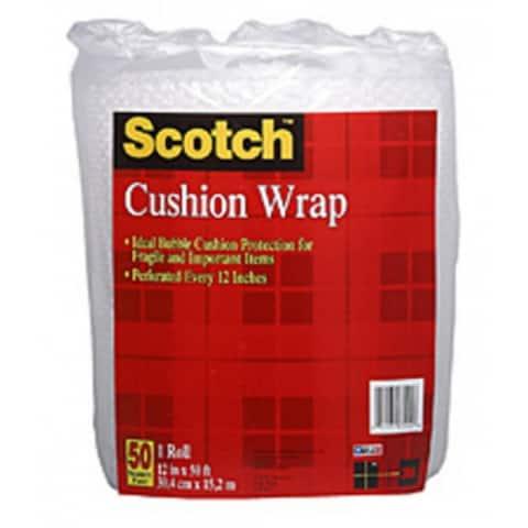 """Scotch 7954 Cushion Wrap, Clear, 12"""" x 50'"""