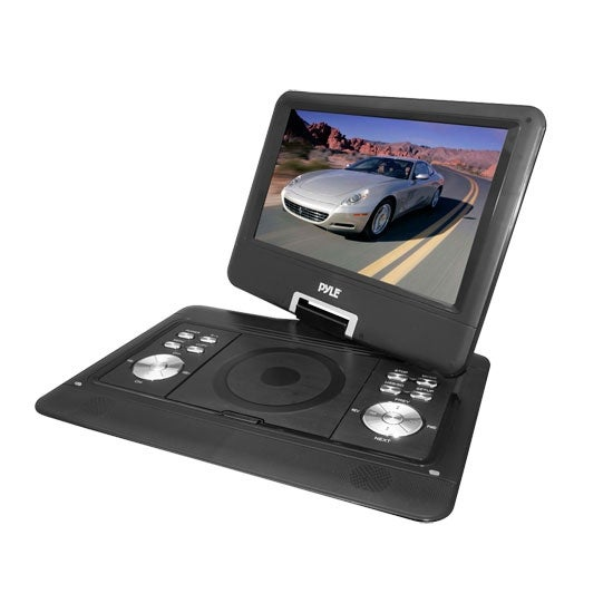 14'' Widescreen High Resolution Portable Monitor w/ Built-In DVD, MP3, MP4 Players, USB Port & SD Card Slot Readers