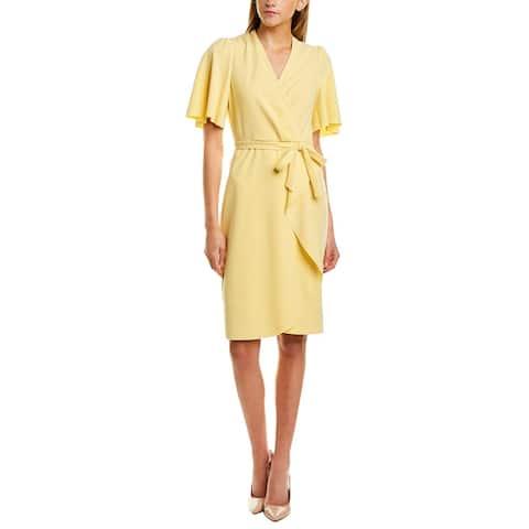 Donna Morgan Faux Wrap Mini Dress