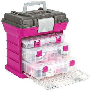 "Creative Options Grab'n Go 3-By Rack System-13""X10""X14"" Magenta & Sparkle Gray - Pink"