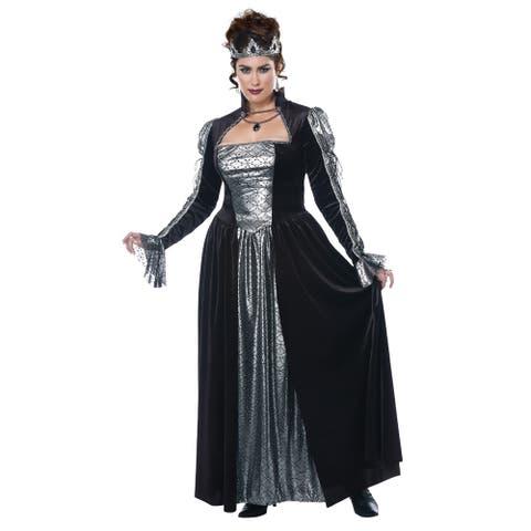 Womens Plus Size Dark Majesty Queen Costume