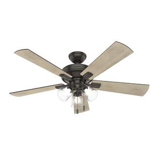 """Link to Hunter 52"""" Crestfield Ceiling Fan with LED Light and Pull Chain Similar Items in Ceiling Fans"""