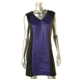 Erik + Lani Womens Juniors Cap Sleeves Mini Clubwear Dress - L