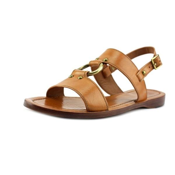Frye Rachel Harness Sandal Women Open-Toe Leather Tan Slingback Sandal