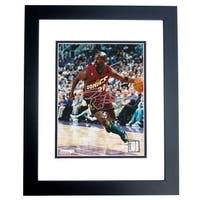 Gary Payton Autographed Seattle Supersonics 8X10 Photo Black Custom