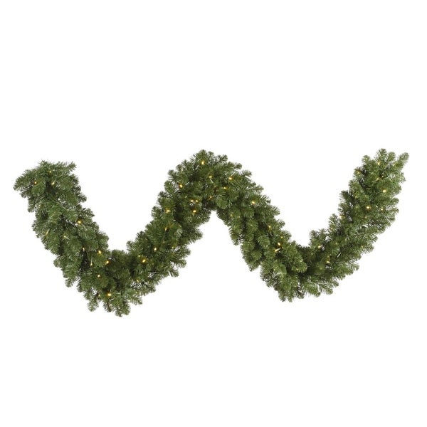 "50' x 14"" Pre-Lit Grand Teton Commercial Length Artificial Christmas Garland - Warm White LED Lights"