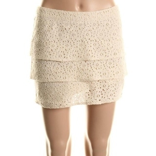 Volcom Womens Juniors Lined Lace Tiered Skirt - 13