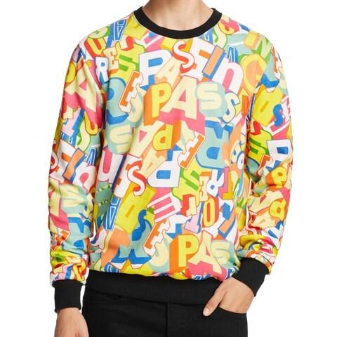 Eleven Paris NEW Yellow Mens Size Medium M Tresspassing Print Sweater