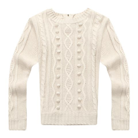 Richie House Girls' Sweet Sweater in Solid Color