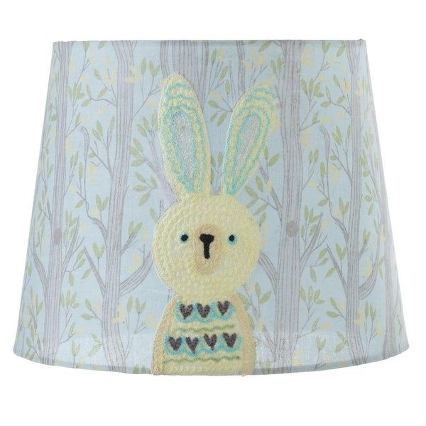 Blue And Yellow Embroidered Rabbit In Forest Designed Lamp Shade 10 Free Shipping Today 21029548