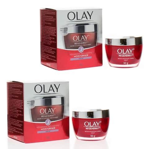 Olay Regenerist Micro-Sculpting Cream Night Advanced Anti-Ageing Moisturiser 50gr/1.7oz (2-PACK)