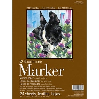 Strathmore 400 Series Marker Pad, 9 x 12 Inches, 24 Sheets