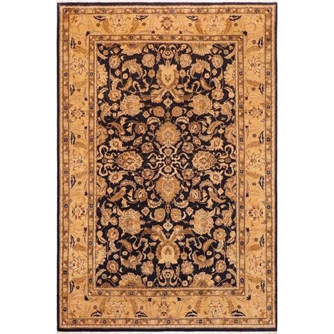 Zeigler Hand-knotted Kafkaz Peshawar Doreen Blue/Tan Wool - 10' x 14'