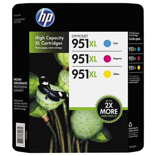 HP 951XL High Yield Ink Cartridges C/Y/M 3-Pack - Multi-color. Opens flyout.