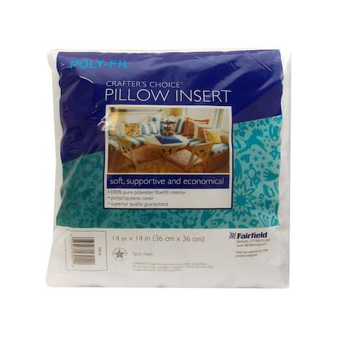 Cp14s fairfield pillow form crafters choice 14 square