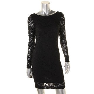 Jump Apparel Womens Juniors Party Dress Open Back Beaded (Option: L)